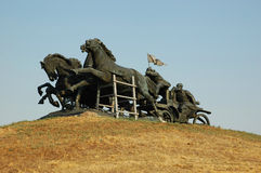 памятник машины пушки тележки преданный к Стоковая Фотография RF