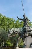 Памятник Мигеля Cervantes - наденьте Quijote и Sancho Panza, Мадрид Стоковые Изображения RF