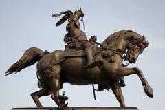 памятник милана manuel filiberto стоковое изображение rf