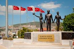 Памятник мира Ataturk стоковое изображение rf