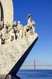 Памятник Мор-Открытий в Лиссабон, Португалии Стоковые Фотографии RF