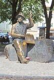 Памятник наивного художника Nikifor Epifaniusz Drowniak, Львова, Украины Стоковое фото RF