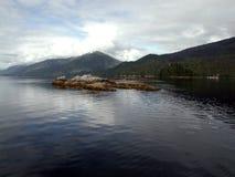 памятник национальные США фьордов Аляски туманный Стоковые Изображения
