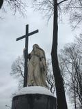 Памятник на кладбище Стоковая Фотография