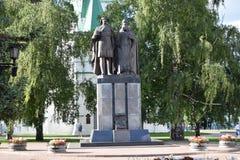 Памятник на фоне стоковое изображение rf