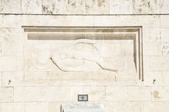 Памятник неизвестного солдата в Афина стоковые фото
