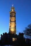 памятник Нелсон s Великобритания холма edinburgh calton Стоковые Фотографии RF