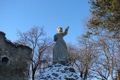 Памятник около загубленной украинской крепости Стоковые Фото