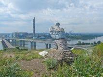 Памятник орла стоковая фотография rf
