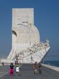Памятник открытий в Лиссабоне, Португалии Стоковая Фотография
