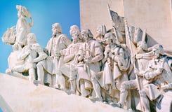 Памятник открытий в Лиссабоне Стоковая Фотография RF