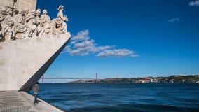 Памятник открытий в Лиссабоне Стоковое Изображение