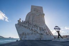 Памятник открытий в Лиссабоне Стоковое Фото