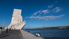 Памятник открытий в Лиссабоне Стоковое фото RF