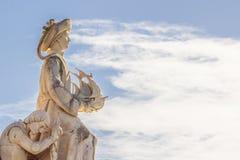 Памятник открытий, Лиссабон, Португалия - 3-ье марта 2016: Стоковое фото RF