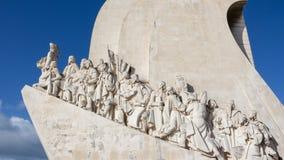 Памятник открытий, Лиссабон, Португалия - 3-ье марта 2016: Стоковые Изображения