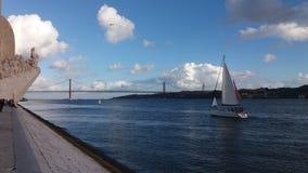Памятник открытий моря в Лиссабоне Португалии Стоковое Фото