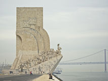 Памятник открытий, belem, Лиссабон (dos Descobrimentos Padrão) Стоковое Фото