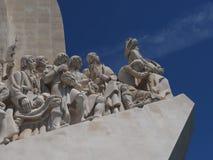 Памятник открытиям в Лиссабоне в Португалии стоковое фото rf