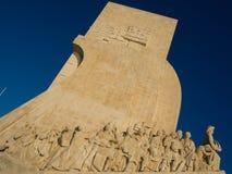Памятник открытия на Belem, Лиссабоне, Португалии Стоковые Фото
