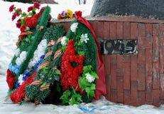 Памятник победы Второй Мировой Войны стоковые изображения rf