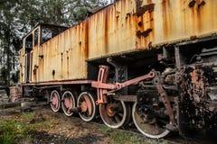 Памятник поезда экипажа железнодорожный античный стоковое фото