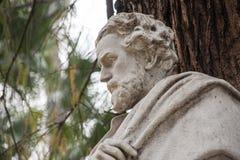 Памятник предназначенный к поэту Gustavo Adolfo Bcquer в Севилье Стоковая Фотография