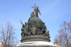 памятник Россия тысячелетия части к Стоковое Фото