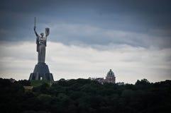 Памятник родины в Киеве, Украине Стоковое Изображение