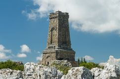 Памятник свободе Shipka - Shipka, Gabrovo, Болгарии Мемориал Shipka расположен на пик Shipka в Балканах стоковые изображения rf