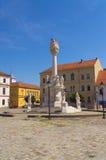 Памятник святой троицы на главной площади в Osijek Стоковое Изображение