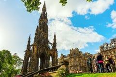 Памятник Скотта в Эдинбурге, Великобритании Стоковое Фото