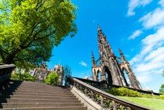 Памятник Скотта в Эдинбурге Стоковое Фото