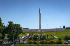 Памятник славы был раскрыт в самаре 5-ого ноября 1971 Оно было построено в честь заслуг worke авиационной промышленности стоковые изображения