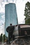 Памятник такси в Буэносе-Айрес стоковые изображения rf