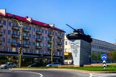 Памятник танка Grodno стоковые изображения rf