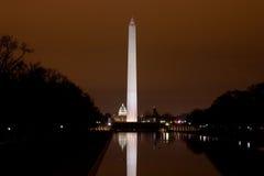 памятник темноты капитолия мы вашингтон Стоковое Изображение RF