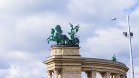 Памятник тысячелетия на квадрате героев в Будапеште, Венгрии стоковые фото
