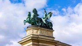 Памятник тысячелетия на квадрате героев в Будапеште, Венгрии стоковое изображение rf