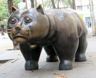 Памятник улицы - кот Стоковое Фото
