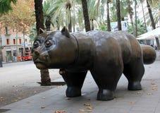 Памятник улицы - кот Стоковое фото RF