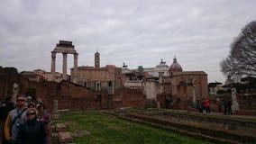 Памятник форума Romanum и Vittorio Emmanuele стоковые фотографии rf