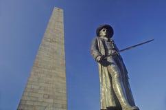 Памятник холма бункера, Бостон, Массачусетс стоковое фото rf