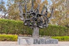 Памятник холокоста мемориальный в Thessaloniki Стоковая Фотография RF