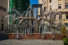 Памятник холокоста плача вербы Стоковая Фотография RF