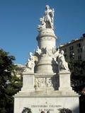 памятник Христофора columbus стоковая фотография rf