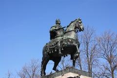 памятник царю Питер верхом стоковые фотографии rf