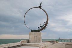 Памятник чайки Джонатана на Сан Benedetto del Tronto Стоковые Изображения