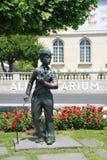 Памятник Чарли Чаплина в Vevey Стоковая Фотография RF