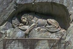 Памятник льва, Люцерн Стоковые Изображения RF